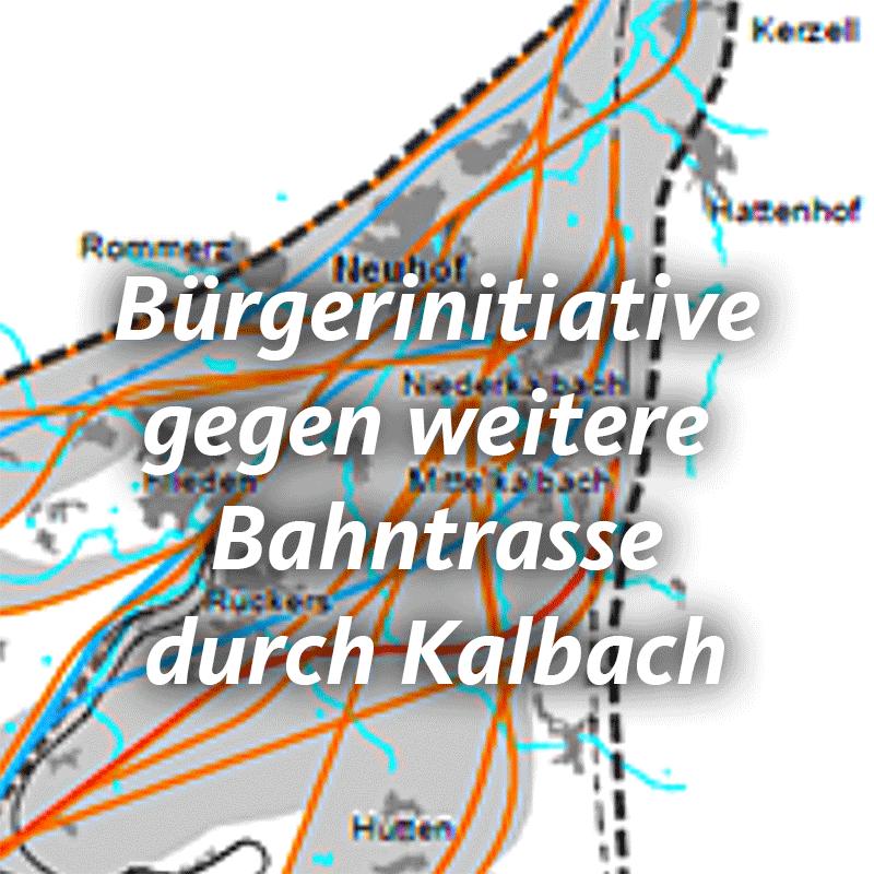 Kalbacher CDU-Parlamentarier gründen Bürgerinitiative (BI) gegen weitere Bahntrasse durch Kalbach