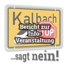 Bericht: Info-Veranstaltung für Bürger zur geplanten Bahntrasse durch Kalbach