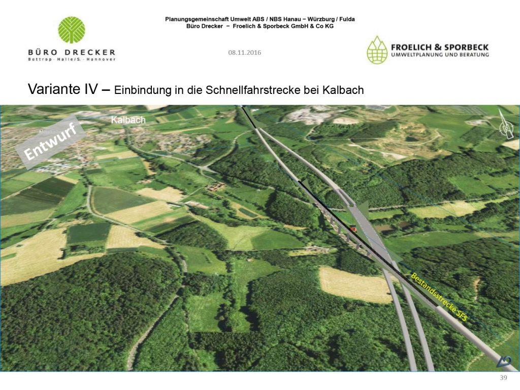 Bild Einbindung in die Schnellbahnstrecke bei Mittelkalbach