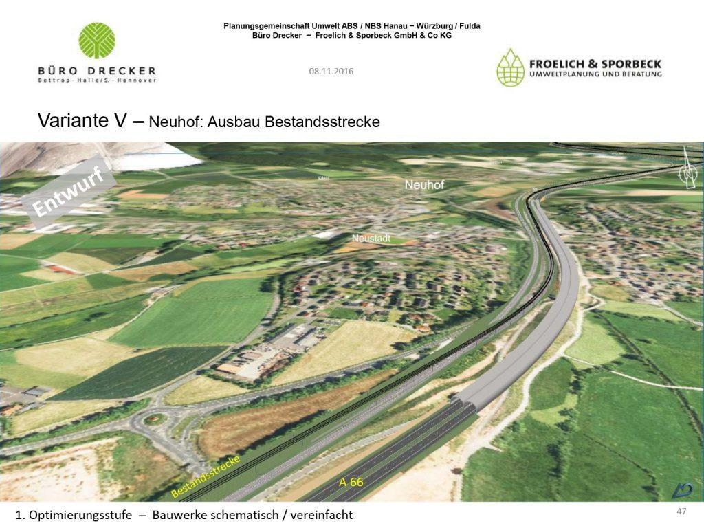 Ausbau Bestandsstrecke bei Neuhof