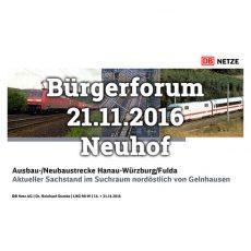 Bericht zum Bürgerforum der DB Netz AG vom 21.11.2016 im Gemeindezentrum Neuhof