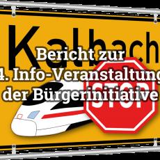 Bericht zur 4. Info-Veranstaltung der Bürgerinitiative