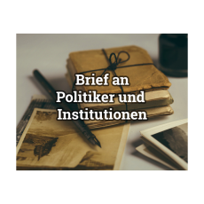 Brief der BI an Politiker und Behörden / Institutionen