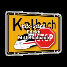 Info-Stand der BI am Edeka in Mittelkalbach