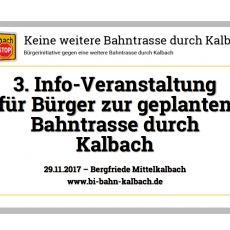 Bericht von der 3. Bürger-Infoveranstaltung zur geplanten Bahntrasse von Gelnhausen nach Fulda
