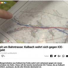 RTL-Bericht: Streit um Bahntrasse: Kalbach wehrt sich gegen ICE-Projekt
